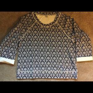 J. Crew Floral Printed Sweatshirt